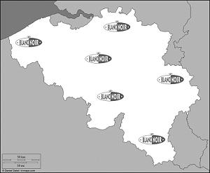 Carte Belgique Noir Et Blanc.Au Blanc Noir